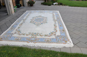 Hand knotted Indian Wool Rug 9 by 14 London Ontario image 3