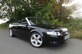 2007 57 Audi A4 Cabriolet 2.0 TDi S Line CONVERTIBLE FSH 2 OWNERS 52 MPG LOW TAX