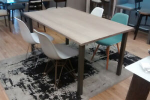 """36"""" x 60"""" Solid Birch Table With Metal Legs. Was $795, Now $395."""