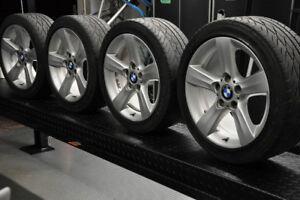 "BMW 17"" OEM Rims x 4 + Spare + Emblems"