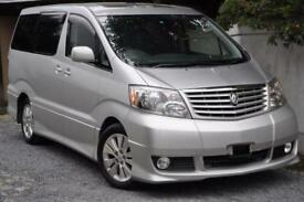 TOYOTA ALPHARD, 2004, 65,500 MILES, AUTOMATIC, 2.4, PETROL IN SILVER