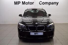 2013 13 BMW X1 2.0 XDRIVE18D M SPORT 5D 141 BHP DIESEL 6SP 4WD 5DR ESTATE,BLACK