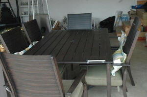 Metal Patio Table Set with storage box