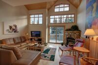 Rare south facing Canmore 4-plex townhouse with garage