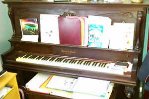 """PIANO, FREE - ANTIQUE, UPRIGHT, """"Mason and Risch"""""""