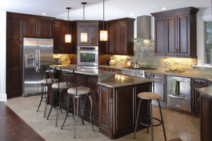 Solid Maple Cabinets 50% OFF,^Granite/Quartz Countertop From $45