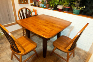 Wooden Dining Dinette Table With 3 Chairs
