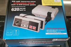 NES MINI GAME   ANNIVERSARY EDITION BUILT  IN 620 CLASSIC GAMES