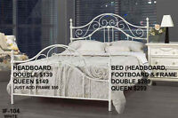 MIKE HAS LOTS OF HEADBOARDS/BEDS-ALL SIZES-STARTING AT JUST $109