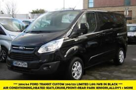 2014 FORD TRANSIT CUSTOM 290/125 LIMITED L1H1 SWB IN BLACK WITH AIR CONDITIONING