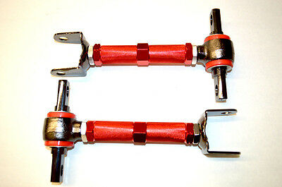 NNR ADJUSTABLE REAR CAMBER KIT W/URETHANE BUSHINGS FOR 2002-2006 ACURA RSX RED