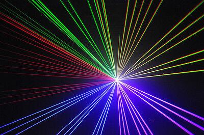 5 in 1 RGB Show Laser System 1300 mW Analog  gebraucht kaufen  Großschönau