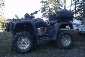 Honda Rubicon Motor and trans are in parts the auto trans is bad