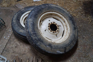 Tires and rims for farm