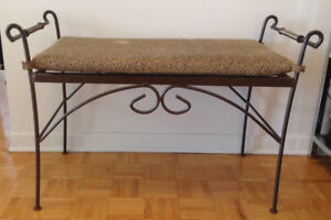 BENCH with METAL BASE