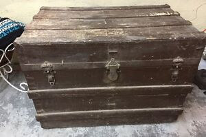 Large Antique Trunk with removable shelf