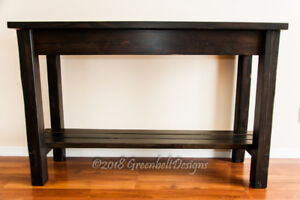 SALVAGED RECLAIMED WOOD ENTRY/CONSOLE/KITCHEN ISLAND TABLE