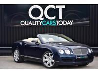 Bentley Continental GTC 6.0 W12 Convertible * Dark Sapphire + Magnolia Hide *
