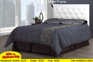 MIKE'S GOT THE BEST STYLES OF LINEN & FAUX LEATHER HEADBOARDS!