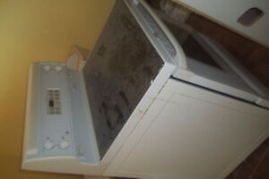 Flat top stove and Fridge with Ice maker