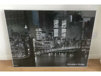 IKEA BROOKLYN BRIDGE NEW YORK FRAMED PICTURE