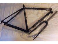 Planet X Kaffenback 2 steel gravel bike cyclocross frame and fork black medium unused