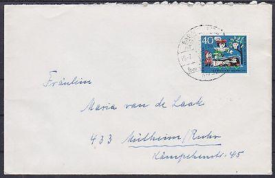 Bund Mi Nr. 388 EF auf Brief mit SST Bad Meinberg - Mülheim Ruhr