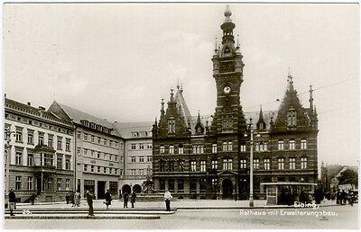 Elbing - Rathaus mit Erweiterungsbau, Foto-Ansichtskarte gelaufen 1931
