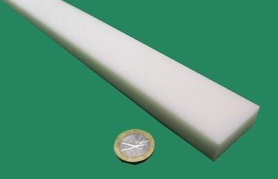 """Thick x 3//8/"""" Wide x 48/"""" Long White Delrin Acetal Square Bar 3//8/"""" .375/"""" .375/"""""""