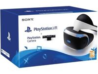 PlayStation vr headset bundle camera and game