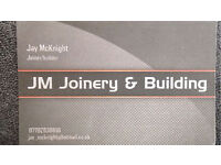 JM JOINERY & BUILDING services available now joiner builder