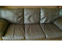 2 & 3 Leather suite in Brown Colour