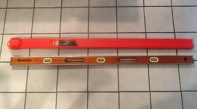 Starrett Mph - 48 I - Beam Whandholes 48-inch Level And Red Starrett Case L48zz