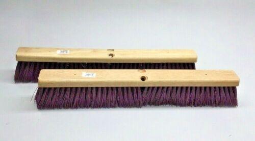 "Carlisle 4520201 Broom Head Flo-Pac 24"" Hardwood Maroon Poly Bristles(Pack of 2)"