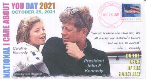 """COVERSCAPE computer designed 2021 """"National I Care About You Day"""" JFK cover"""