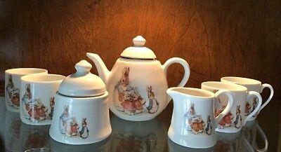 Beatrix Potter Miniature Childrens Porcelain Tea Set Service Reutter Porzellan