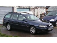 Vauxhall Omega Estate 2.2 CDX 2000 (X) Auto Blue Fitted Towbar service history just put on Sorn