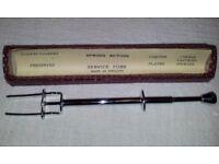 Vintage Spring Action Chrome Plated Service Fork