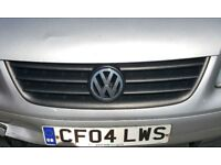 Volkswagen VW Touran 2003-2006 VW Caddy 2004-2010 FRONT GRILLE BLACK GREY GRILL