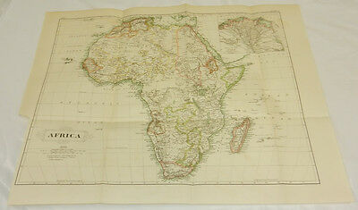 1875 Antique COLOR Map/AFRICA/Large 15x18""