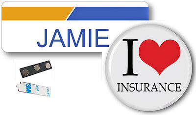 Jamie Progressive Insurance Badge  Button Halloween Magnet Ships Free