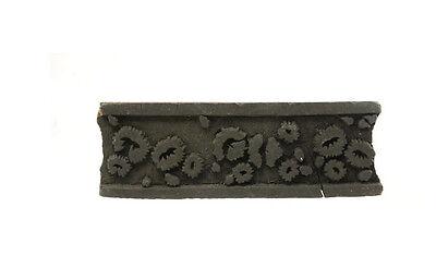 Antique Bunta Stamped Wood Printing Fabric Textile Batik Rajasthan India NP17B6