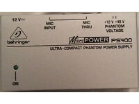 BEHRINGER PHANTOM POWER SUPPLY - NEVER USED - CONDITION UNKNOWN