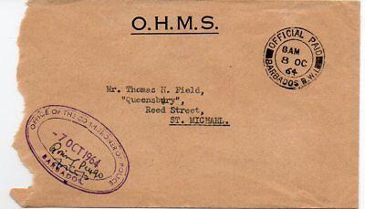 Barbados 1964 OHMS cvr with Office of Commissioner of Police handstamp