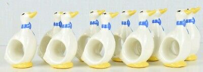 Lot Of 10 Vintage Ceramic Duck Napkin Ring Rings Set Home Decor Dining Table Halo Dining Table