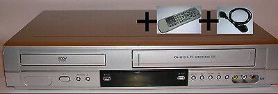 VHS Videorecorder+DVD Kombigerät + originale Fernbedienung Videorekorder combo