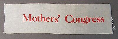 MOTHER'S CONGRESS ribbon 1909 Alaska Yukon Pacific Expo Seattle AYP
