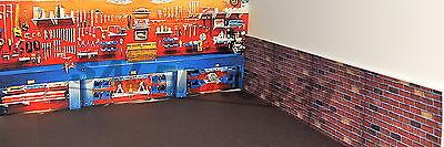 Set Of Three(3) Garage Diorama Decals 1:18-1:24 Scale Diorama