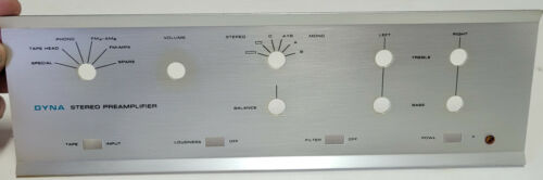 Dynaco DYNA PAS Stereo Tube Preamp Preamplifier Face Plate