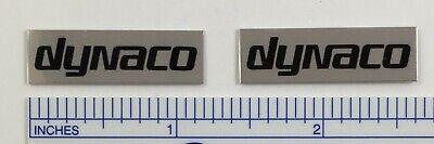 Dynaco Speaker or Amplifier Badge Logo Emblem Silver w/Black